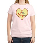 OYOOS Love Heart design Women's Light T-Shirt