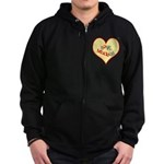 OYOOS Love Heart design Zip Hoodie (dark)