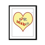 OYOOS Love Heart design Framed Panel Print