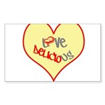 OYOOS Love Heart design Sticker (Rectangle 50 pk)