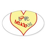OYOOS Love Heart design Sticker (Oval 10 pk)