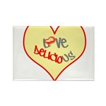 OYOOS Love Heart design Rectangle Magnet (100 pack