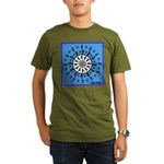 OYOOS Blue Moon design Organic Men's T-Shirt (dark