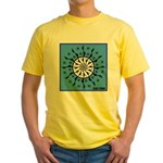 OYOOS Blue Moon design Yellow T-Shirt