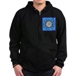 OYOOS Blue Moon design Zip Hoodie (dark)