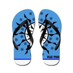 OYOOS Blue Moon design Flip Flops