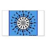 OYOOS Blue Moon design Sticker (Rectangle 50 pk)
