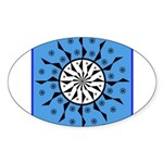 OYOOS Blue Moon design Sticker (Oval)