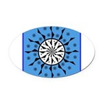 OYOOS Blue Moon design Oval Car Magnet