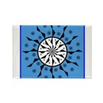OYOOS Blue Moon design Rectangle Magnet (10 pack)