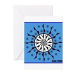 OYOOS Blue Moon design Greeting Cards (Pk of 10)