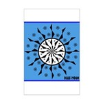 OYOOS Blue Moon design Mini Poster Print