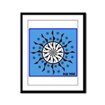 OYOOS Blue Moon design Framed Panel Print