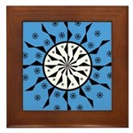 OYOOS Blue Moon design Framed Tile