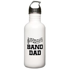 Band Dad Music Staff Water Bottle