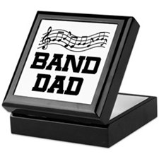 Band Dad Music Staff Keepsake Box