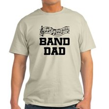 Band Dad Music Staff Light T-Shirt