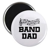 Band Dad Music Staff Magnet
