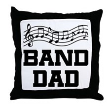 Band Dad Music Staff Throw Pillow