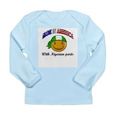 Cute Nigerian flag Long Sleeve Infant T-Shirt