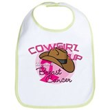 Cowgirl Up Against Breast Cancer Bib