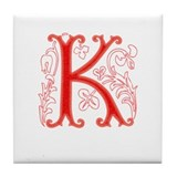 "Tree ""K"" Tile Coaster"