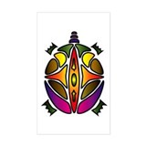 Tribal Turtle 1 Rectangle Decal