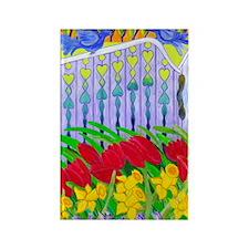 Garden Gate Rectangle Magnet