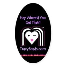 TracyBeads Oval Decal