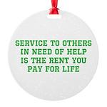 Service Merchandise Round Ornament