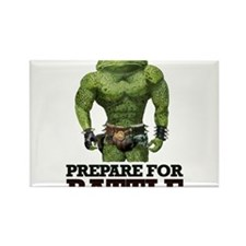 PREPARE FOR BATTLE says TOAD Rectangle Magnet (100