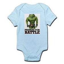 PREPARE FOR BATTLE says TOAD Infant Bodysuit
