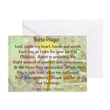 Nurse Prayer Blanket Size Yellow.PNG Greeting Card