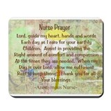 Nurse Prayer Blanket Size Yellow.PNG Mousepad