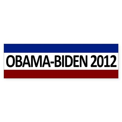 Red, White and Blue Obama-Biden 2012 Bumper Sticker