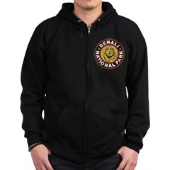 Denali Black Circle Zip Hoodie (dark)