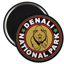 Denali Black Circle Magnet