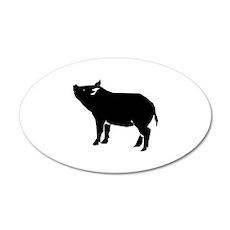 Pig 38.5 x 24.5 Oval Wall Peel