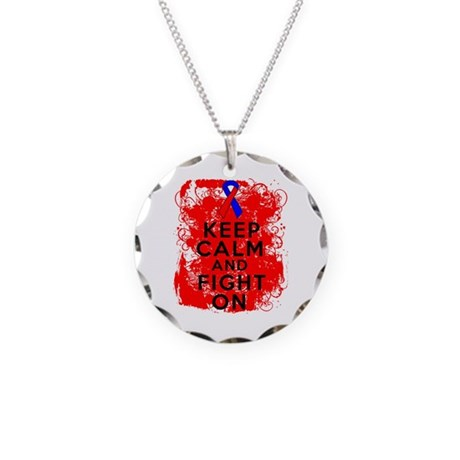 Pulmonary Fibrosis Keep Calm Fight On Necklace Cir