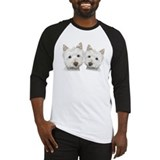 Two Cute West Highland White Dogs Baseball Jersey