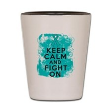 PCOS Keep Calm Fight On Shot Glass