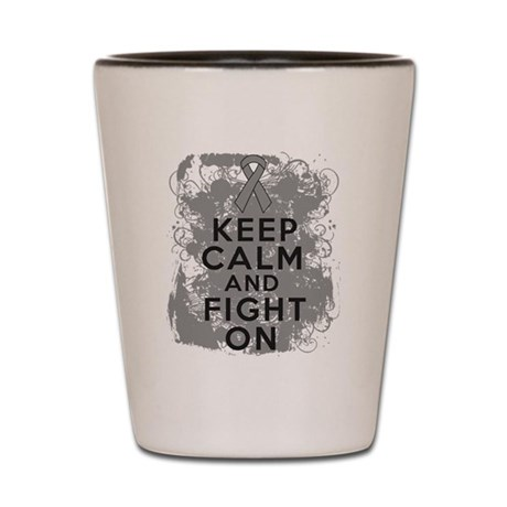 Parkinsons Disease Keep Calm Fight On Shot Glass