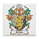 Trevor Coat of Arms Tile Coaster