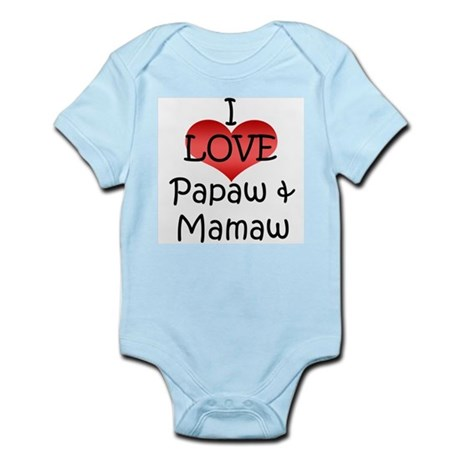 I Love Papaw & Mamaw Infant Creeper