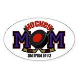 Hockey Mom Oval Bumper Stickers