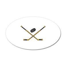 Hockey 22x14 Oval Wall Peel