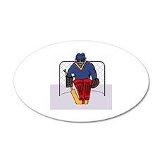 Hockey 38.5 x 24.5 Oval Wall Peel