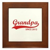 Grandpa since 2012 Framed Tile