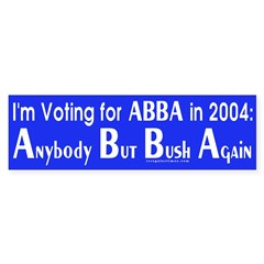ABBA in 2004 Bumper Sticker
