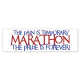 Marathon- The Pride is Forever Bumper Car Sticker